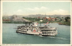 "Steamer ""Island Queen"" on the Water"