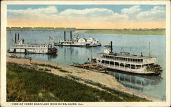 View of Ferry Boats and Ohio River