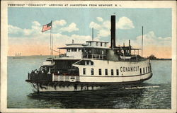 "Ferryboat ""Conanicut"" Arriving at Jamestown from Newport"