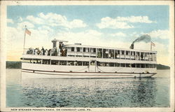 "Steamer ""Pennsylvania"" on Conneaut Lake, PA"