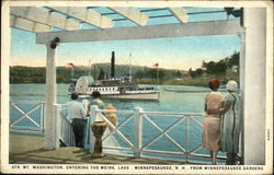 Steamer Mt Washington, Entering the Weirs from Winnepesaukee Gardens