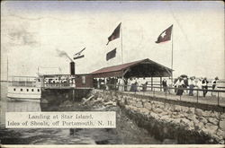 Landing at Star Island, Isle of Shoals