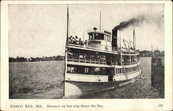 Steamer on her trip down the Bay