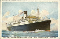 Souther Pacific Steamship Lines (Morgan Line) S.S. Dixie - New York - New Orleans