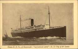 "Ocean S. S. Co. of Savannah - ""Savannah Line"" - S. S. City of St. Louis"