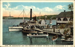 "Strs. ""Mt. Washington"" and ""Gov. Endicott at Wharf"