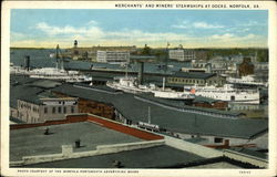 Merchants' and Miners' Steamships at Docks