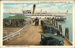 Steamer Landing at Municipal Pier - The Sunshine City