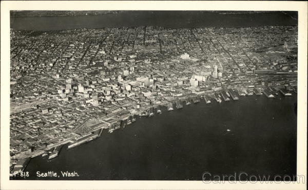 Aerial View of City Seattle Washington
