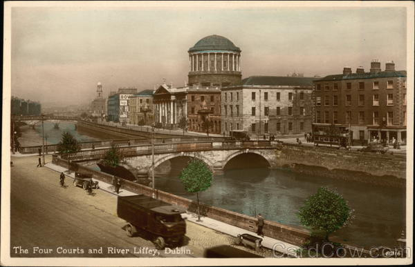 The Four Courts and River Liffey Dublin Ireland