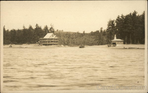 Lake & Shore Scene, Probably Massachusetts or New Hampshire
