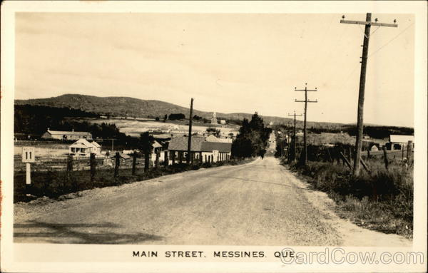 Main Street View Messines Canada Quebec