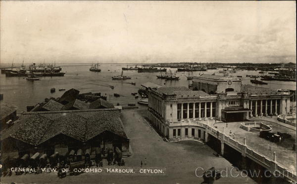 General View of Harbor Colombo Sri Lanka Southeast Asia