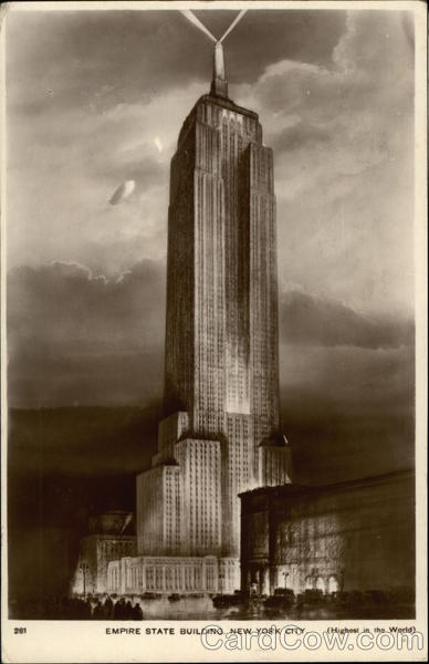 Empire State Building - World's Tallest Structure - 1248 Feet - 102 Stories High New York