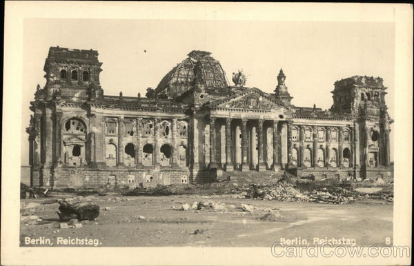 View of the Reichstag Berlin Germany