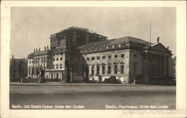 Old Staats Opera, Unter den Linden Berlin Germany