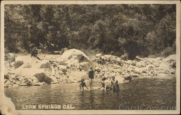 Bathers in the Spring Lyon Springs California
