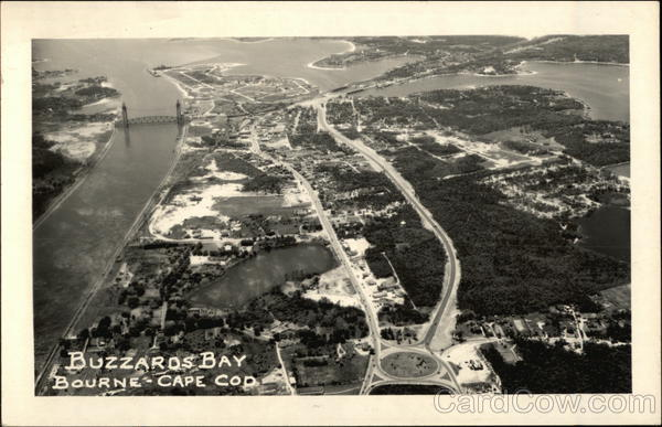 Aerial View of Buzzards Bay at Cape Cod Bourne Massachusetts