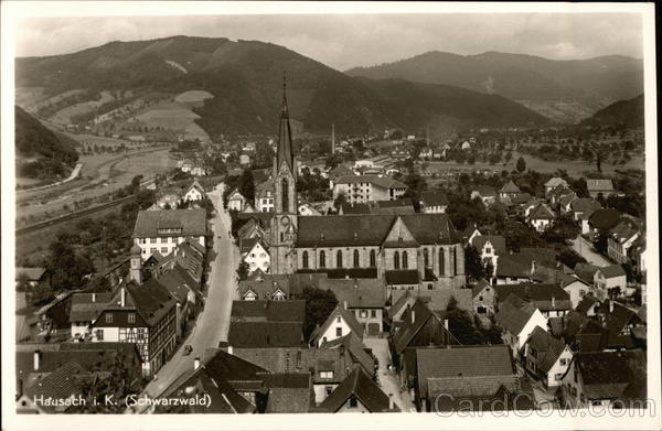 View of Town and Church Hausach im Kinzigtal Germany