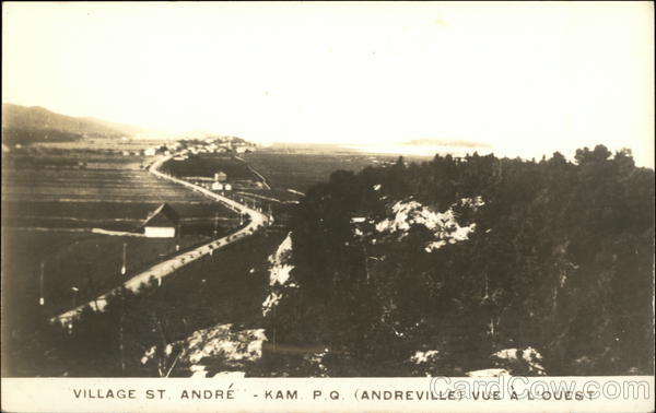 View of Village, Looking West Andreville Canada Quebec