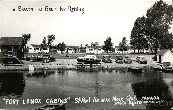 Fishing Boats for Rent and Fort Lenox Cabins St. Paul Ile aux Noix Canada