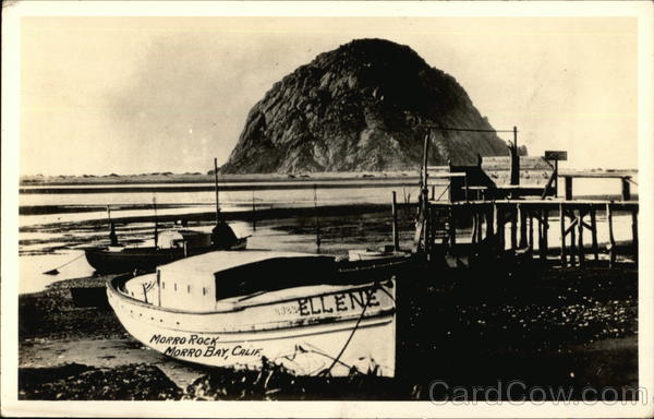 Ellene at Morro Rock Morro Bay California Boats, Ships