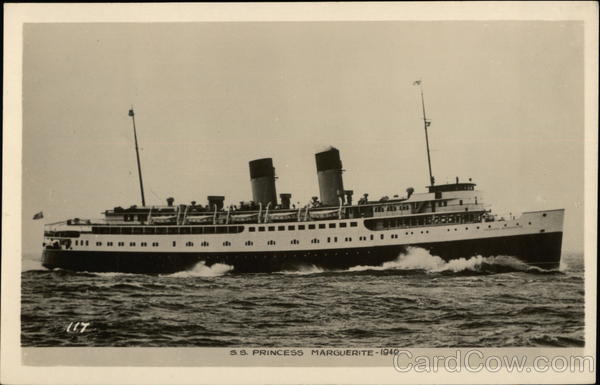 S.S. Princess Marguerite, 1940 Steamers