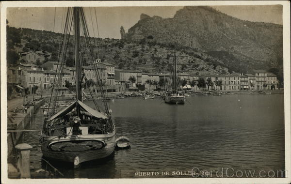 Boats at the Waterfront Puerto de Soller Spain Mexico