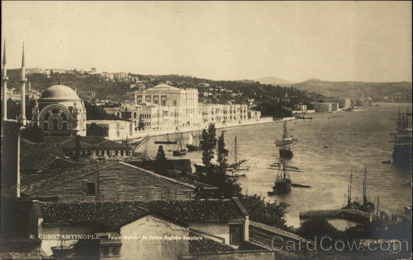 View of Waterfront Constantinople Turkey Greece, Turkey, Balkan States