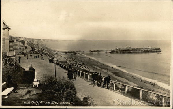 West Cliff Slope Bournemouth England Dorset