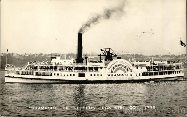 Shamrock Ex Cepheus Iron Steamboat Co. Steamers