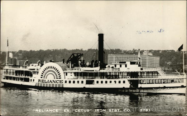 Reliance ex Cetus Iron Steamboat Co. Steamers