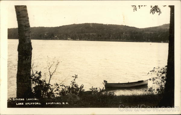 Lovers Landing, Canoe in Wait Spofford Lake New Hampshire