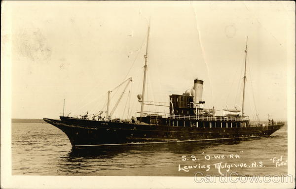 SS O-We-Ra Leaving Mulgrave Canada Nova Scotia