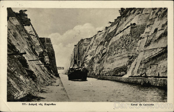 Steamer in Canal de Corinthe Greece Greece, Turkey, Balkan States