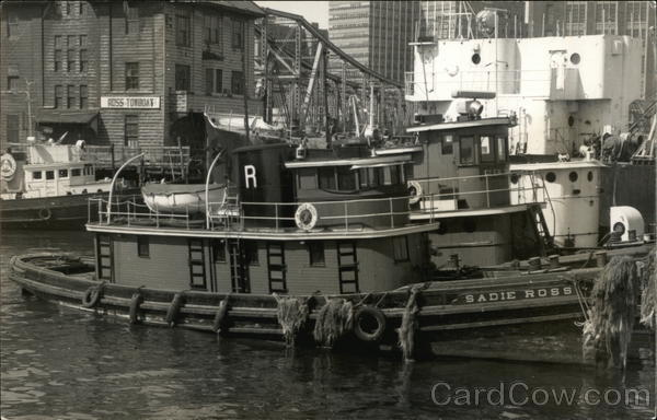 Tugboat Sadie Ross, Ross Towboat Co. Boston Massachusetts