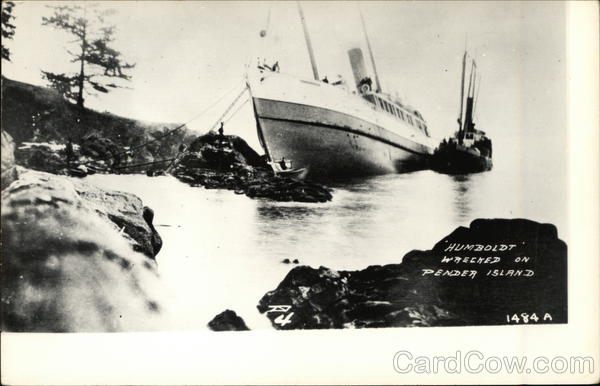 Humboldt Wrecked on Pender Island Canada British Columbia