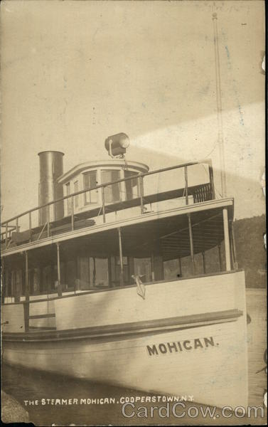 The Steamer Mohican Cooperstown New York Steamers