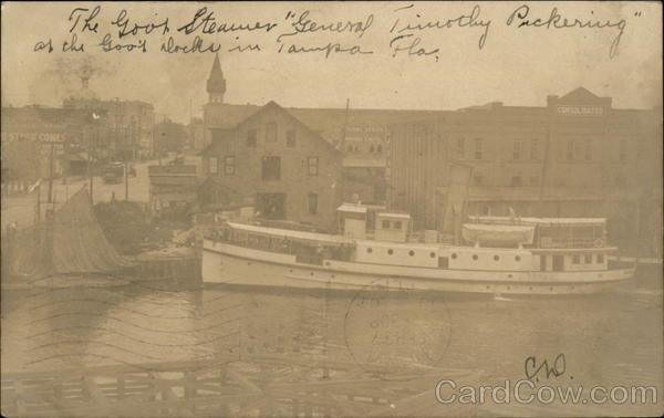 Steamer General Timothy Pickering Tampa Florida Steamers