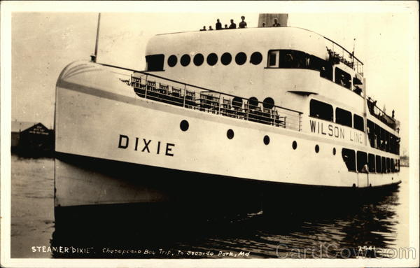Steamer 'Dixie', Chesapeake Bay Trip to Seaside Park, MD