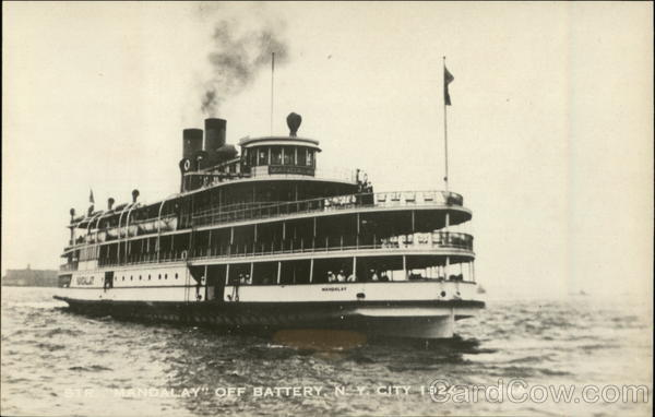 Steamer Mandalay Off Battery New York City Steamers