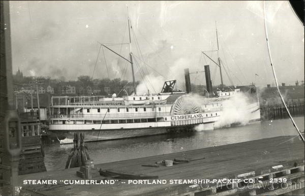Steamer Cumberland, Portland Steamship Packet Co.