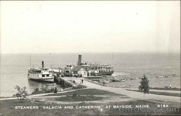 Steamers Salacia and Catherine Bayside Maine
