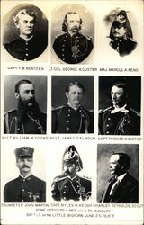 General Custer, Officers and Men from 7th Cavalry