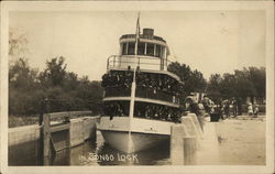 Boat in Songo Lock Postcard