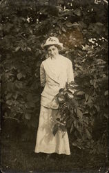 Woman with WPI Hat (Worcester Polytechnic Institute)