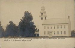 Old Jaffrey Town Hall - Built during the Battle of Bunker Hill
