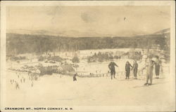Skiers at Cranmore Mountain