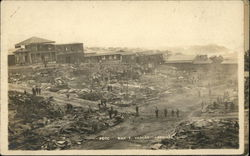 Showing Town After Disaster Postcard