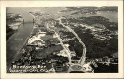 Aerial View of Buzzards Bay at Cape Cod Postcard